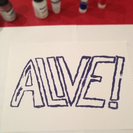 Alive! screenprint